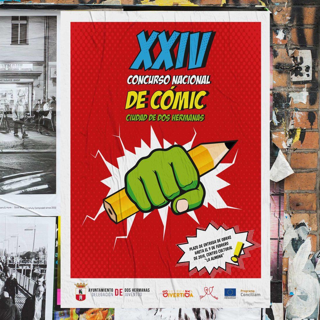 Diseño de carteles en Sevilla, Ayuntamiento de Dos Hermanas