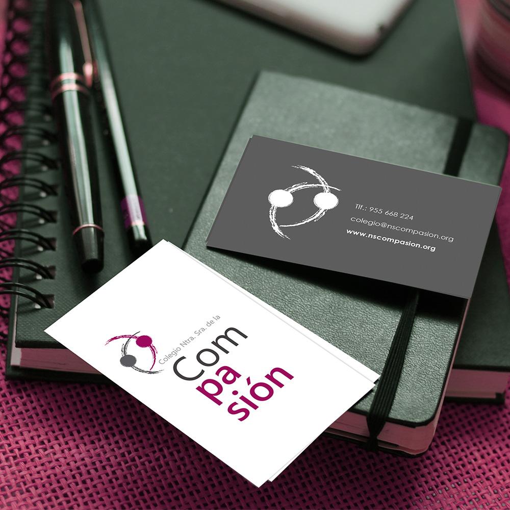 Diseño de Logotipo y papelería corporativa en Sevilla, Nuestra Señora de la Compasión