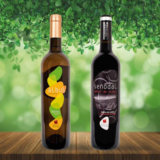Diseño de etiquetado de botellas. Bodegas Señorio de Aldea