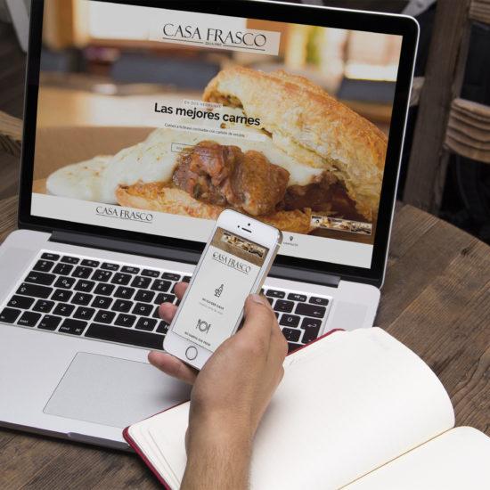 Diseño de pagina web de Restaurante Casa Frasco