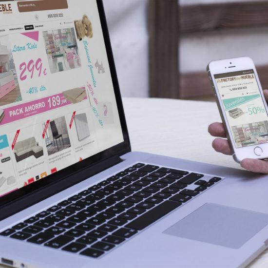 Desarrollo tienda online FactorydelMuebleUrera
