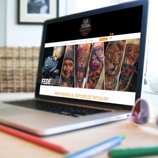 Desarrollo de Página web y tienda online Gastattoo